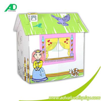 cubierta plegable de cartn de papel corrugado para pintar casa de juegos casa de juegos para