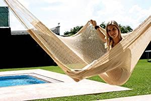 Hammocks Inc , Matrimonial size color beige, Handmade Yucatan Hammock
