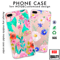 summer flower leave soft clear case for iphone 7 cover for iphone 6 for samsung galaxy s8 case