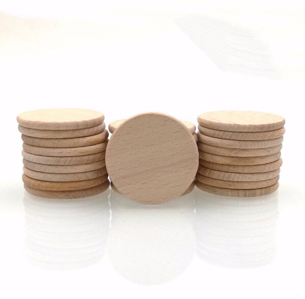 Natural Beech Wood Round Pieces Wooden Blank Disc Natural Wood Discs 15 Buy Wood Round Discwooden Circlesbeech Wood Coin 38mm Product On