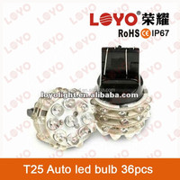 Factory 3156 socket T25 Auto led bulb 12v DC 36pcs leds 6000k brake/turning/signal