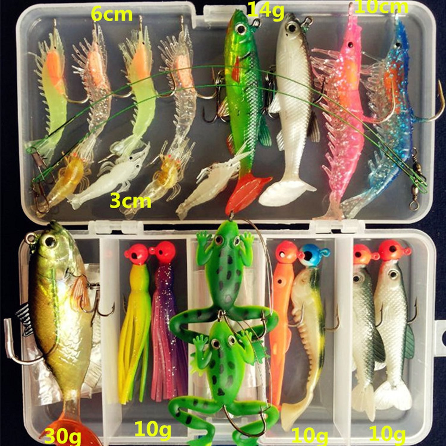 Buy AGadget Soft Plastic Fishing Lures Kit Set Lots with