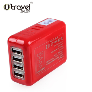 5V 2.1A/3.1A/5.4A 4 x USB Travel Charger Multi-plugs SL-161 SAA, CE, FCC ,RoHS Approvals USB wall charger