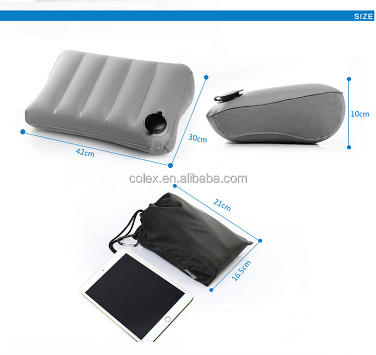 Compact Inflating Travel / Camping Pillows - Ultralight, Compressible, Inflatable, Comfortable, Ergonomic Pillow for back