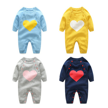 New hot selling products newborn baby knitting jumpsuit romper from Chinese factory