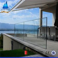 Good Quality Frameless Glass Railing Balcony/Tempered Glass Deck Railing