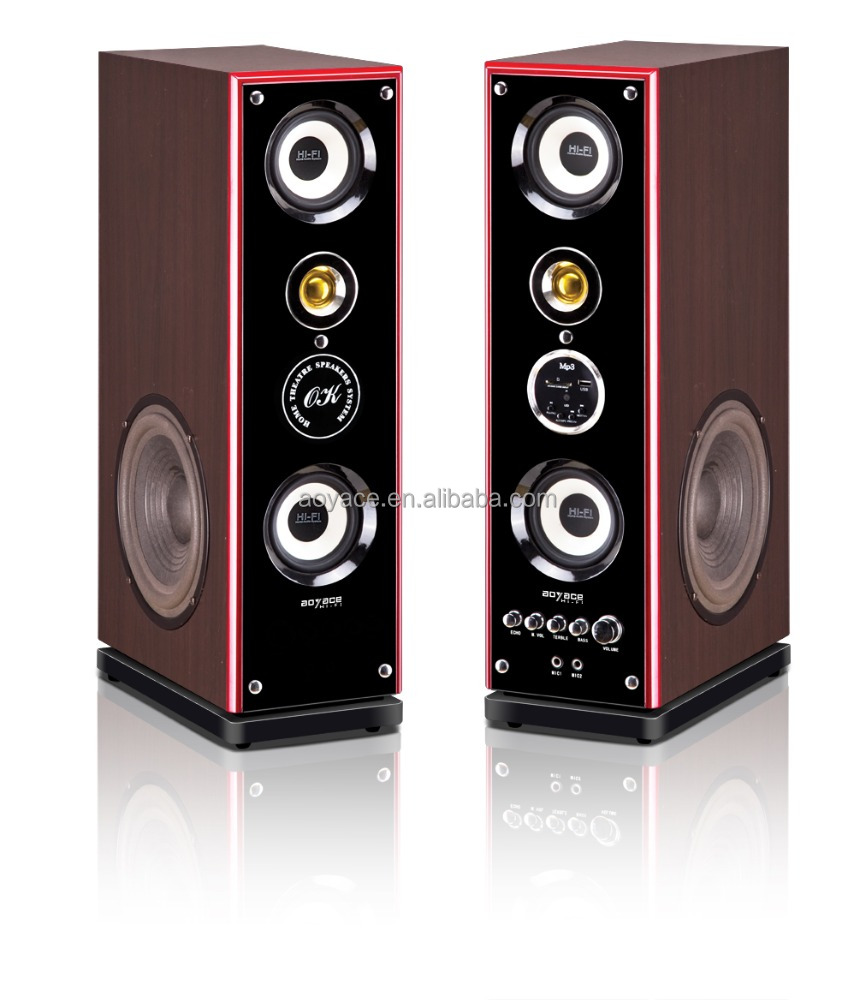 Profesional Sistem Daya Audio 2.0 Speaker Aktif Bluetooth Tower