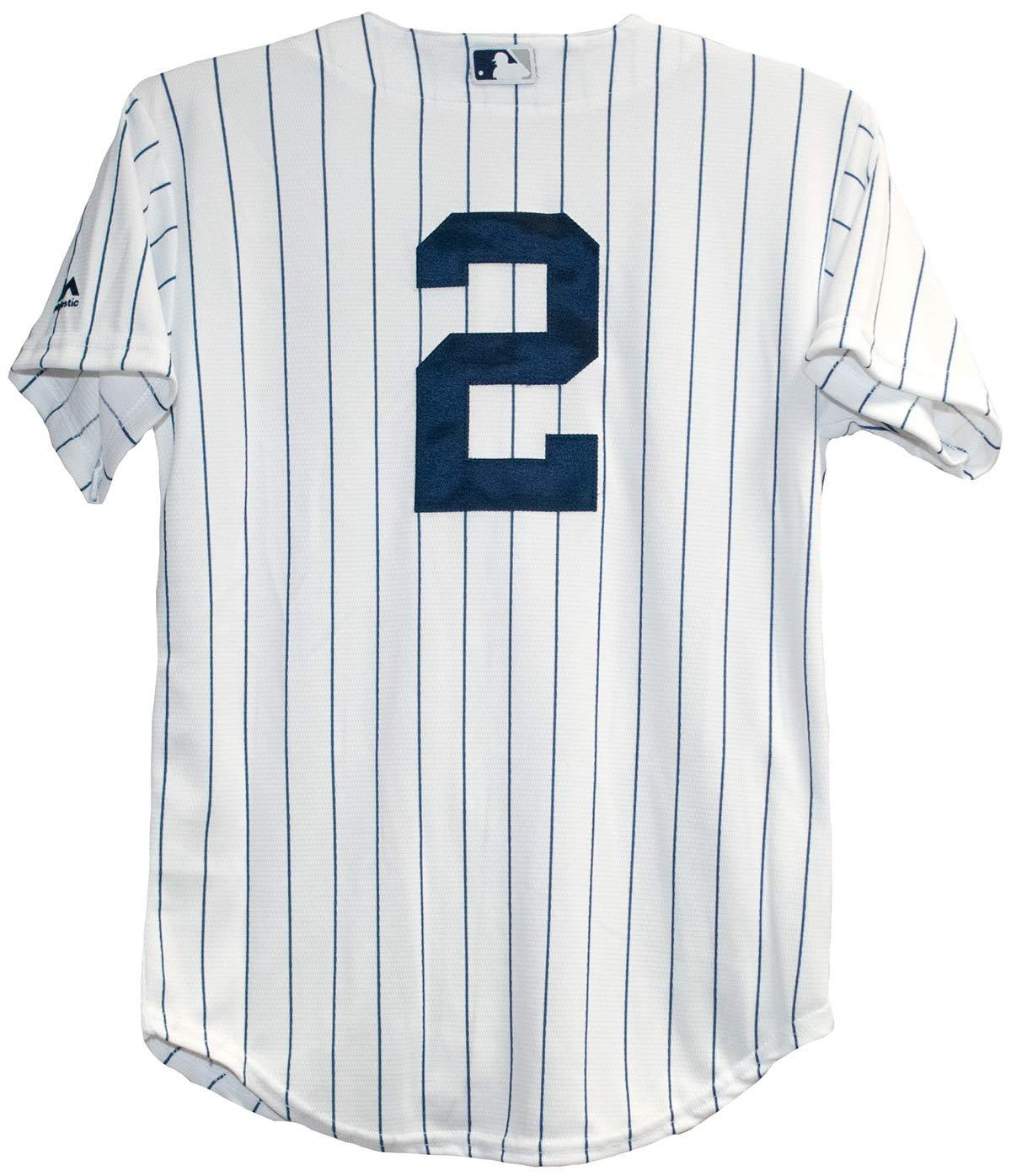 f468ea8fa Get Quotations · Derek Jeter New York Yankees Home Pinstripe Youth Baseball  Jersey (Medium (10-12