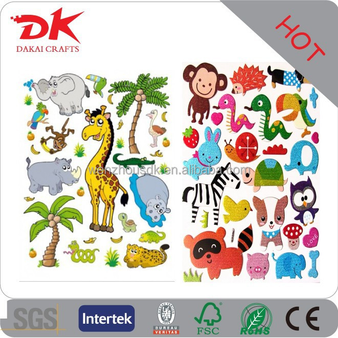 Kustom Lucu Kebun Binatang Hewan Dan Putri Duyung Stiker Tato
