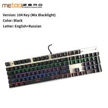 ZERO русская Механическая игровая клавиатура 87 104 клавиш синий красный черный переключатель проводная светодиодная подсветка защита от прив...(Китай)