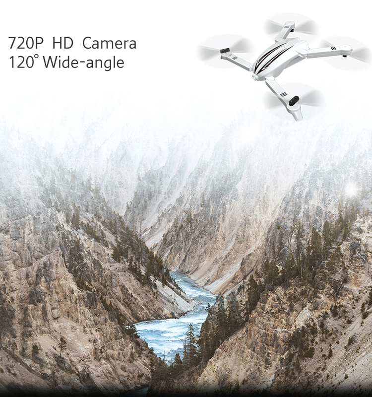 5. T13_White_Foldable_Mini_Selfie_Drone_with_720P_Wide_Angle_HD_Camera