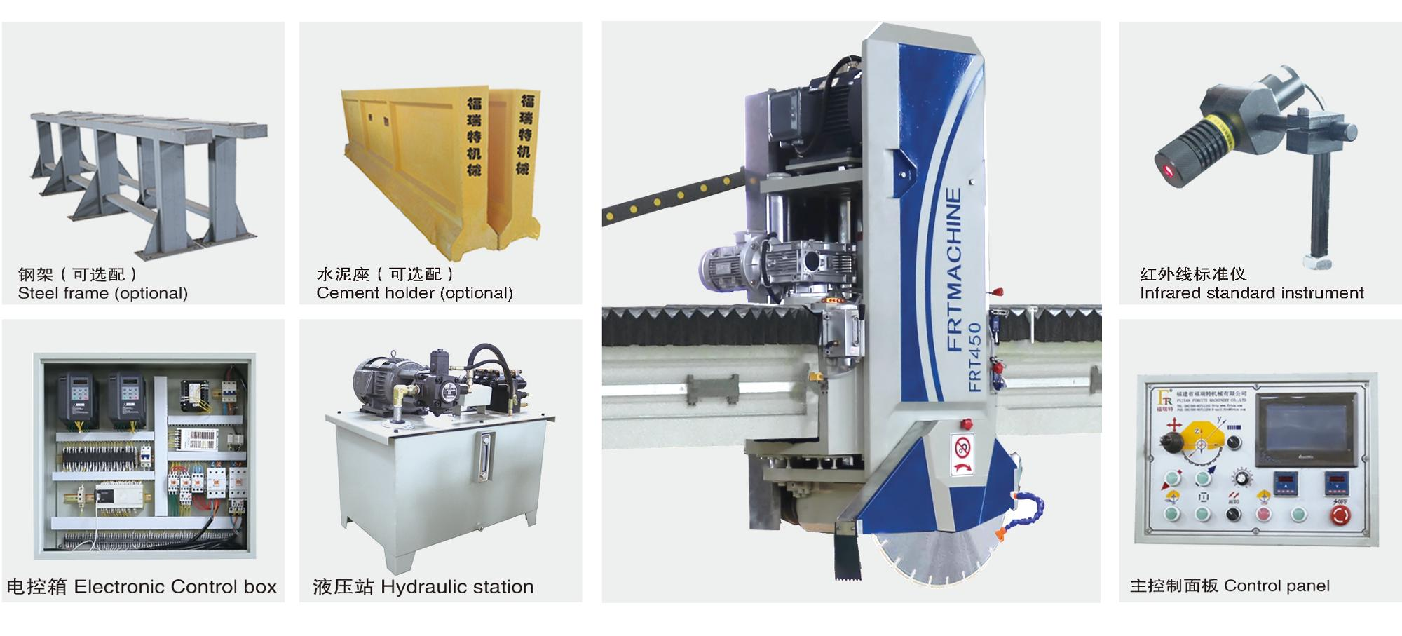 marble cutting machines granite kerb cutter saw marble infrared bridge cutting machine for Kitchen Countertop