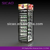 Compress ideas wine storage to display wine in Surpermaket