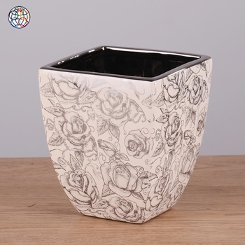 New products modern unique decorative flower pots ceramic plant pot