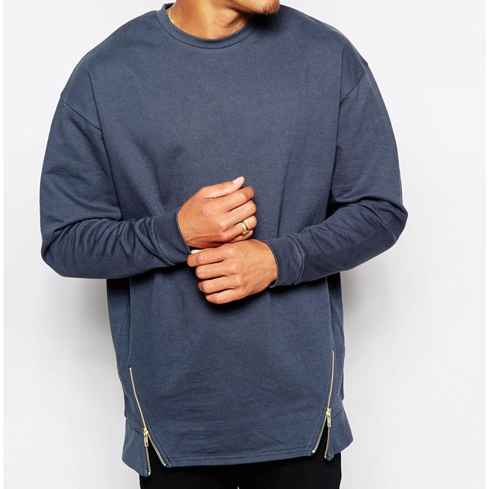 Custom Plain Crewneck Zipper Oversized Sweatshirts Wholesale - Buy ...