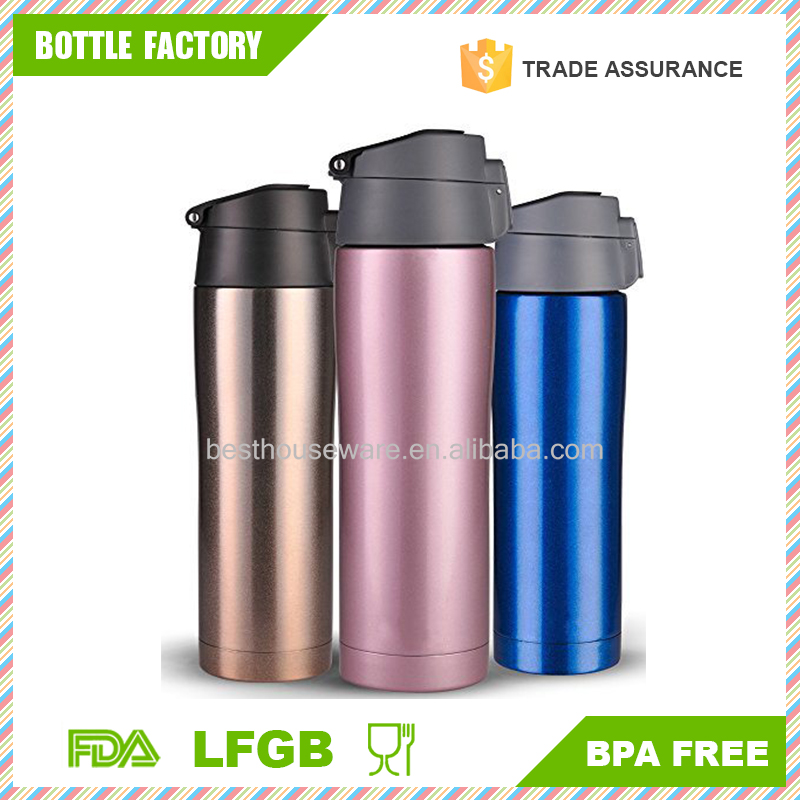Vacuum Insulated Travel Mug | Flip Lid with lock - Double Wall Stainless Steel