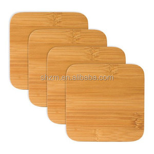 "Bamboo Square Coaster Set with a Natural Finish, Each Measures 4x4"" bamboo dinnerware set"