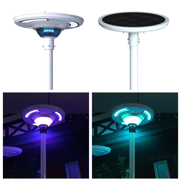 Led street lights all in one solar street lighting color rgb color changing