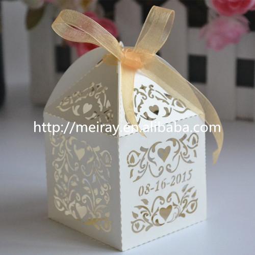 India diwali sweet box laser cut wedding box favors party favours