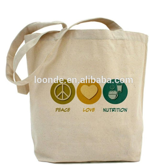Disposable and Reusable Cotton Canvas Grocery Bags