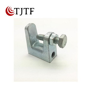Malleable iron channel beam clamp c type galvnatized meta Ductile iron