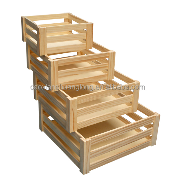 Solid wood fruit crates unfinished solid wood orange for Buy wooden fruit crates