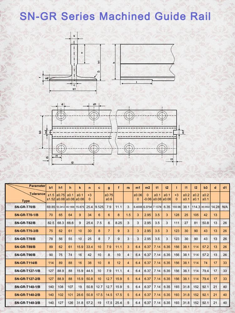 Elevator Guide Rail Dimensions Guide Rail For Elevator