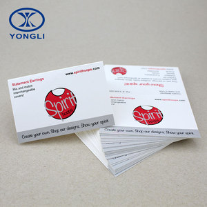 China custom paper earring business card printing service