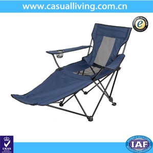 Outdoor Foldable Beach Camping Reclining Chair with Footrest