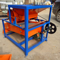 Grain and seed shaker impurity separation and grading screen linear shaker