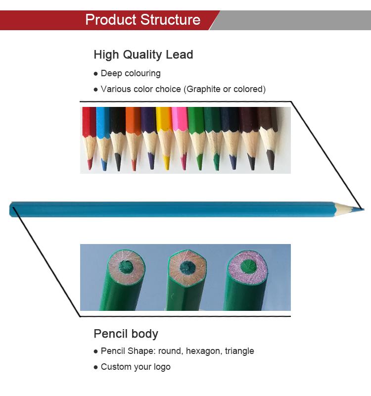 Pabrik 18 Tahun 12 Pcs Kayu Dewasa Menggambar Mewarnai Pensil Set