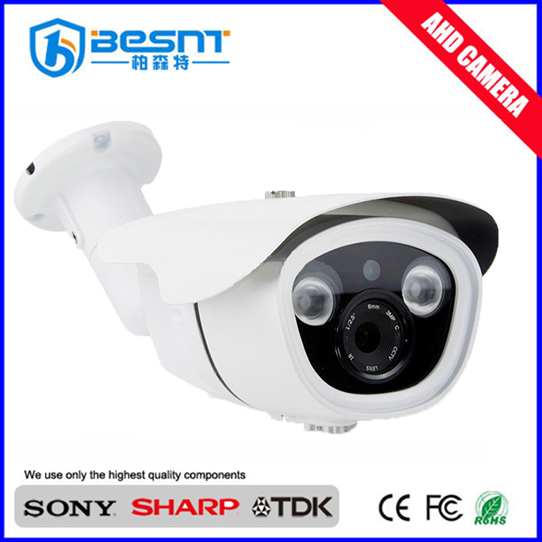 Cheapest price OEM 2 array leds Waterproof bullet 1080P ahd cctv Camera 2MP (BS-848ADV)