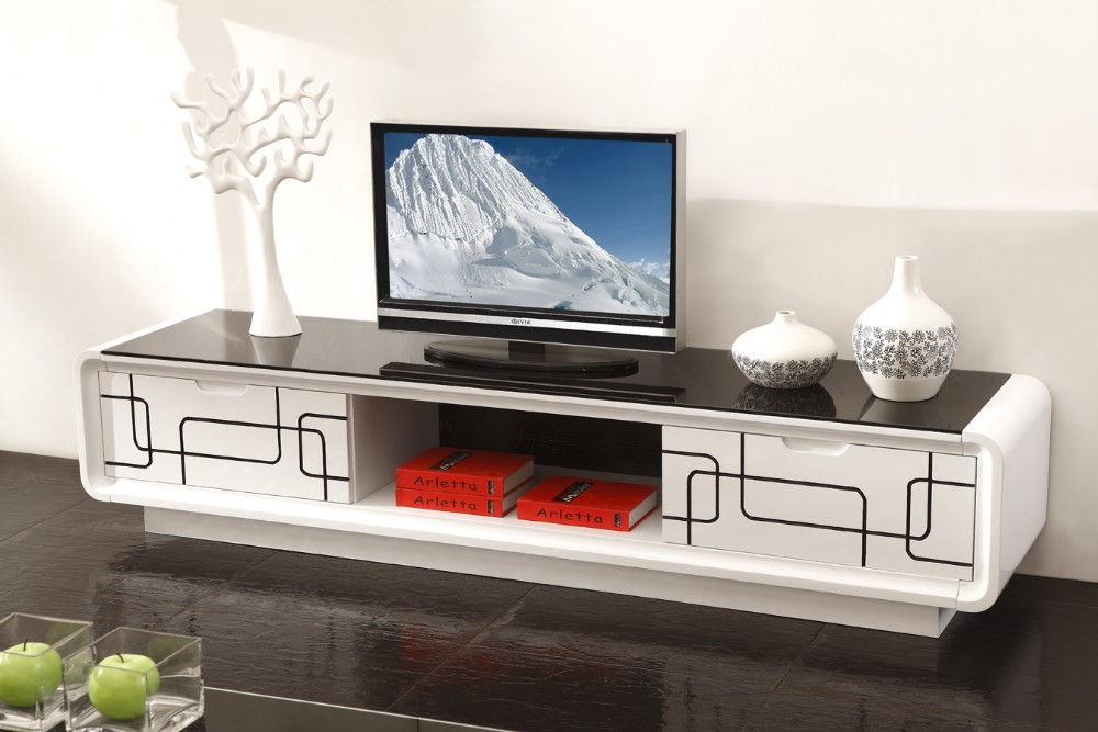 Lcd Stand Designs For Home : Home designs furniture wood living room lcd stand design white