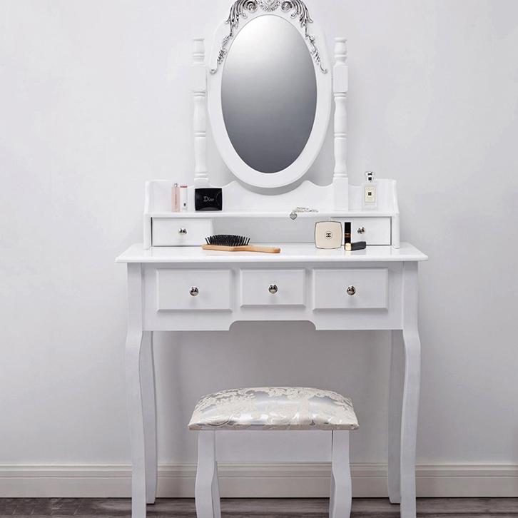 Antique White Bedroom Wooden Furniture