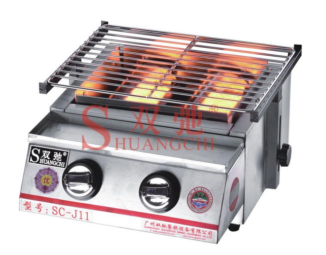 SC-J11 Commercial Environmental stainless steel Gas BBQ Gril lwith 2 burners