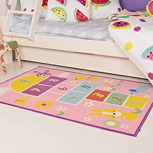 Buy Lelva Cartoon Hopscotch Kids Carpet Bedroom Sweet Pink Rug