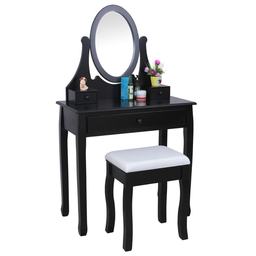 Negro Moderno Tocador Dormitorio Espejo Muebles Aparador - Buy ...