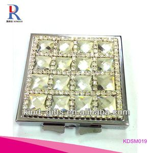 High Quality Bling Rhinestone Best Makeup Mirror With Lights With Crystal China Factory