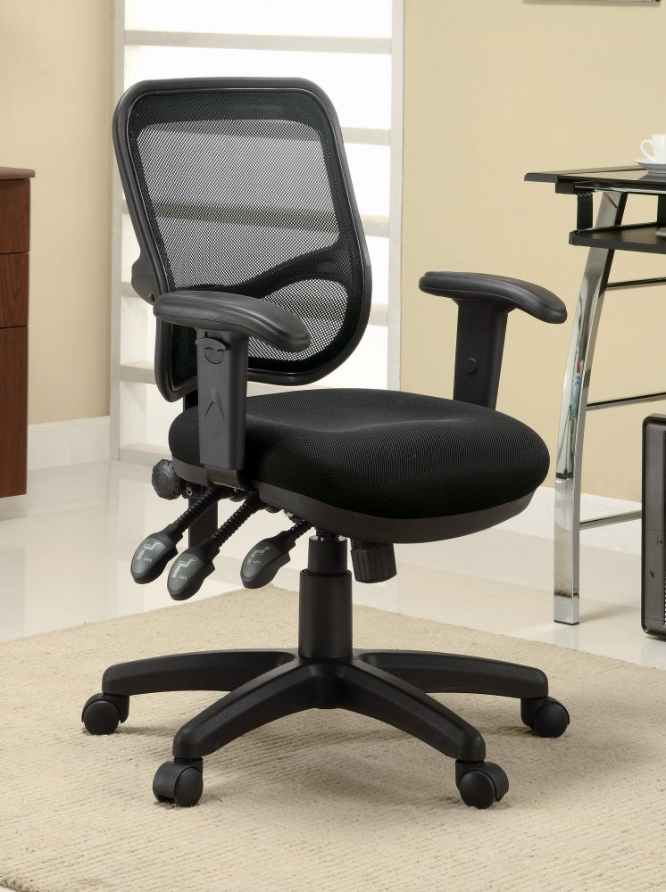 Coaster Transitional Black Mesh Office Chair