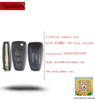 old style before 2012 car 3 buttons key remote control with 433mhz no chip inside for ford focus Mondeo key