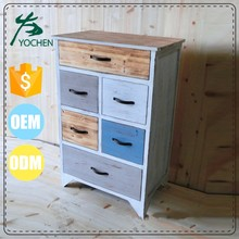 Narrorw high multi color combine chest of drawers