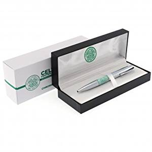 Celtic F.C. Executive Ball Point Pen- Executive Ballpoint Pen- Black Ink- Approx 13Cm X 1Cm- In A Luxury Gift Box- Official Football Merchandise