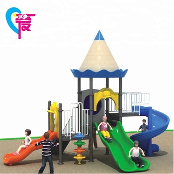 HL-09301 2018 New Design Castle Theme Cheap Outdoor Playground Slide Toys Equipment
