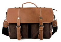 Vintage canvas leather messenger bag for mens