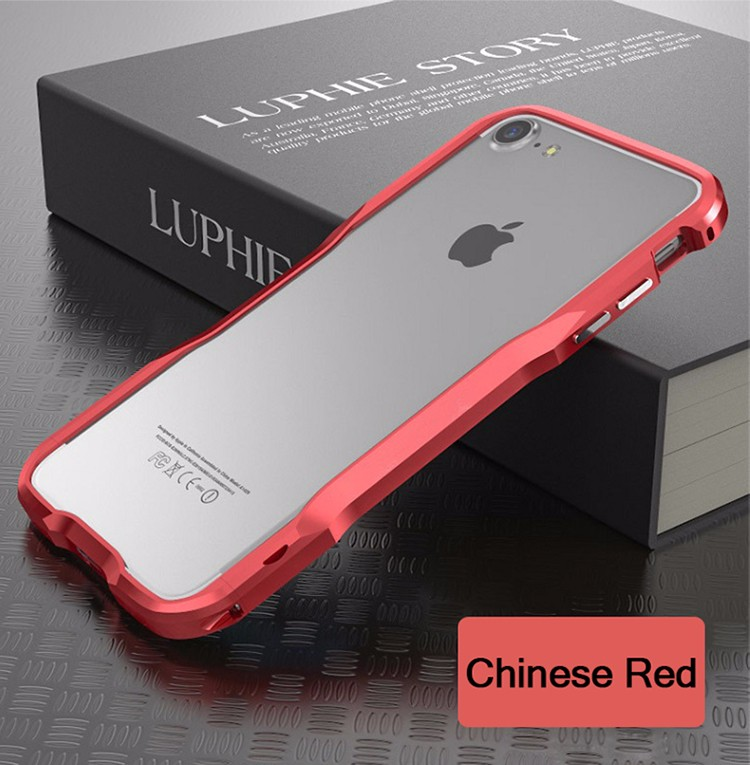 Aluminum bumper ultra thin cell phone case for Iphone 7 case mobile phone shockproof