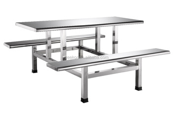 Stainless Steel School Canteen Table And Chairfast Food Table