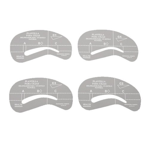 4 Styles Eyebrow Grooming Stencil Kit Template Make Up Shaping DIY Beauty Tools