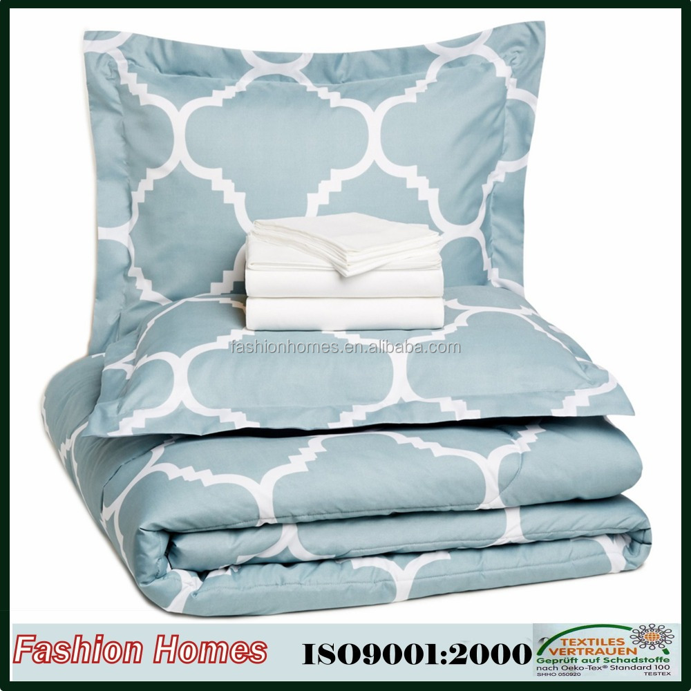 Shanghai quilt manufacturing 100% polyester microfiber 3 piece duvets covers