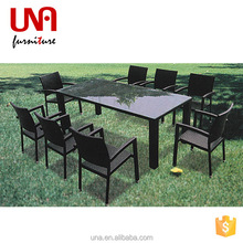 Una outdoor rattan lucite coffee table and chair bali furniture whole sale dining big lots furniture set