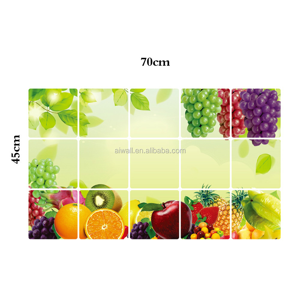 3027 Fruits And Vegetables Wall Stickers Anti-oil Wall Decals Bear ...